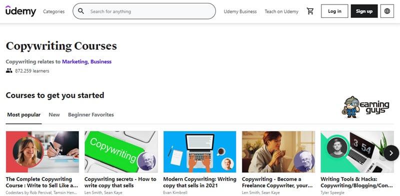 Udemy Copywriting Courses